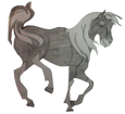 Mustang adulte - robe 1000000101